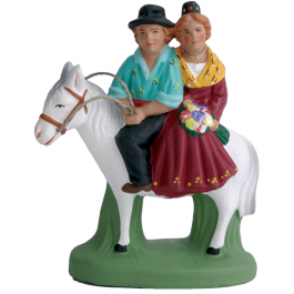 7089 - Vincent et Mireille sur le cheval - Collection 7cm