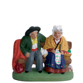 7141 - Le couple de vieux assis - Collection 7cm