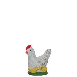 7255 - La poule et les poussins - Collection 7cm