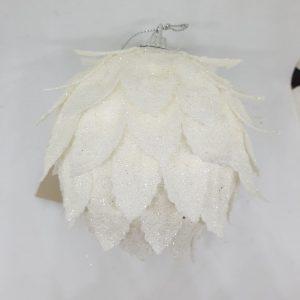 boule blanche style floral noël
