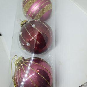 Lot de 3 boules de Noël