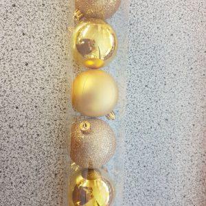 lot de 10 boules dorées noël