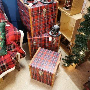 boite carrée style écossais