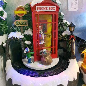 cabine téléphonique père noël