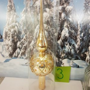 cime pour sapin or et strass