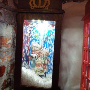 lanterne musicale enneigée bonhommes de neige