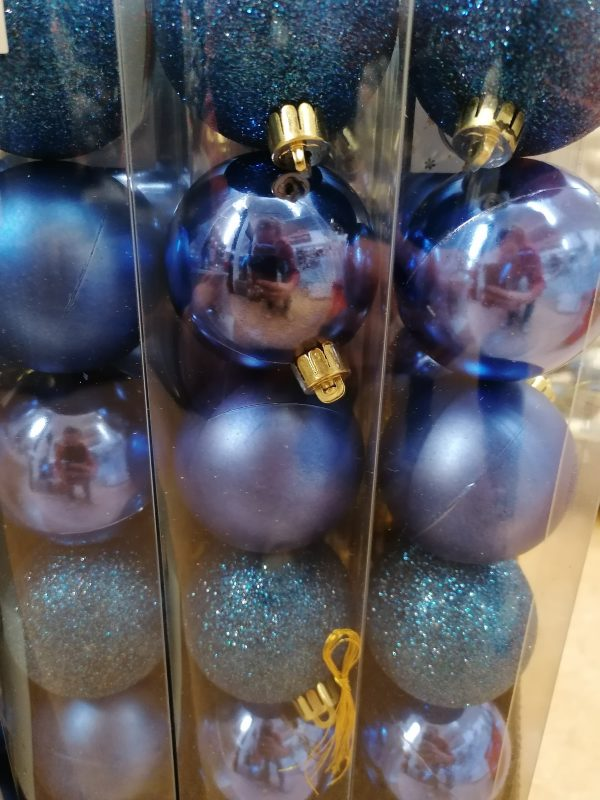 lot de boules bleues